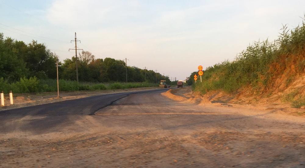 Новая дорога в посёлке Гирей