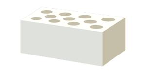 Камень силикатный пустотелый